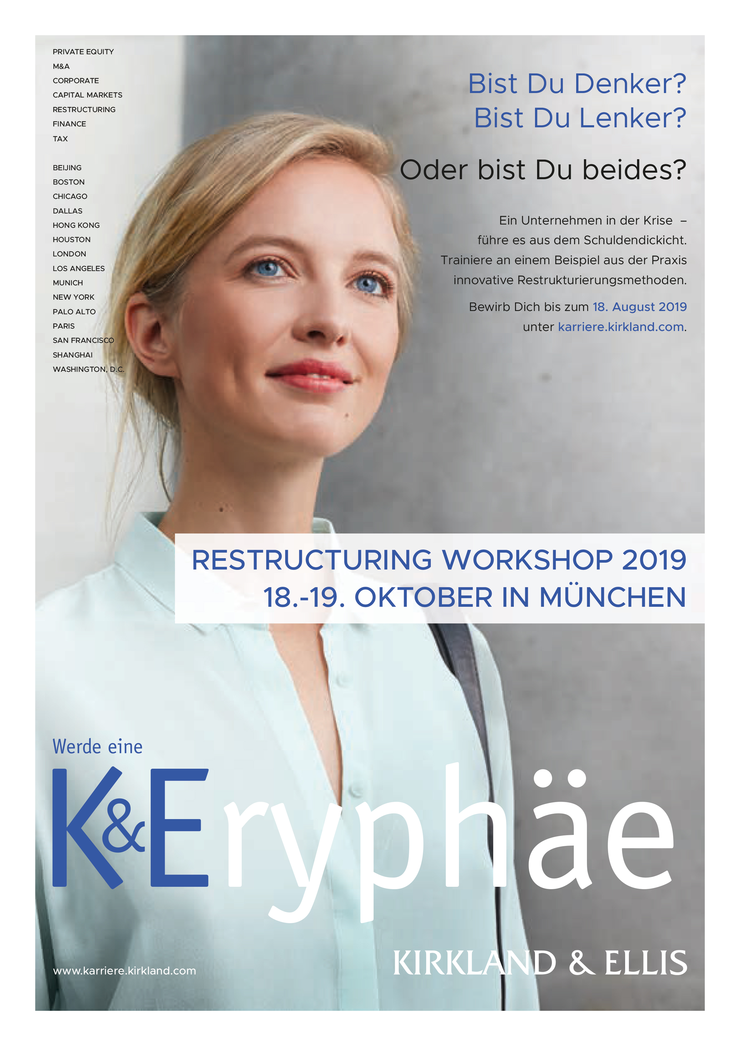 Kirkland & Ellis - Restructuring Workshop am 18. und 19. Oktober 2019