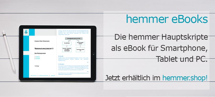 Lernen mit den digitalen Editionen der hemmer-Hauptskripte!